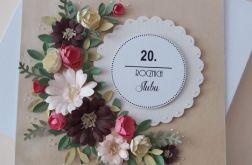 20 Rocznica Ślubu - ręcznie robiony BUKIET
