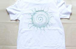 "Biała koszulka ""Ethnic sun"" rozmiar L - 4"
