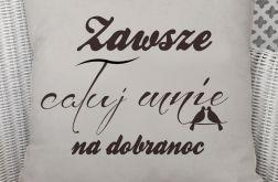 Poszewka Rustykalna Lniana dla Zakochanych