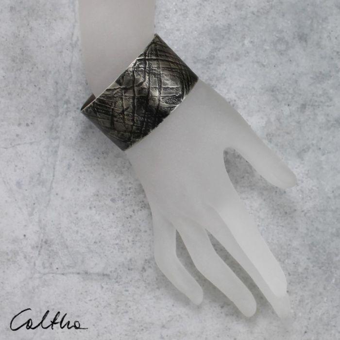 Fale - metalowa bransoleta 151001-06 - Regulowana bransoletka