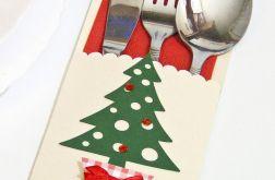 Etui na sztućce Boże Narodzenie - choinka
