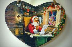 duża zawieszka ze świątecznym obrazkiem