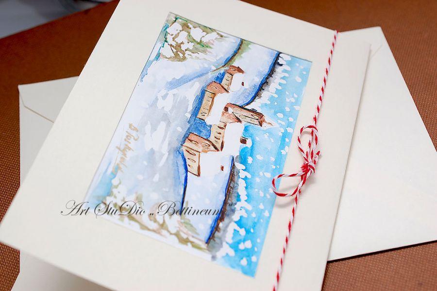 Karnet malowany ręcznie -Akwarela Nr 3-