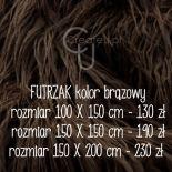 Kocyk futrzak do sesji zdjęciowych 150 x 200 cm