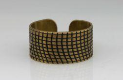 Kratka - mosiężny pierścionek 130620-03