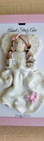 Anioł Stróż Pudrowo różowy