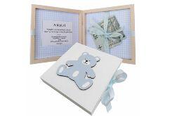 Pamiątka Chrztu-pudełko na pieniądze- Pp07