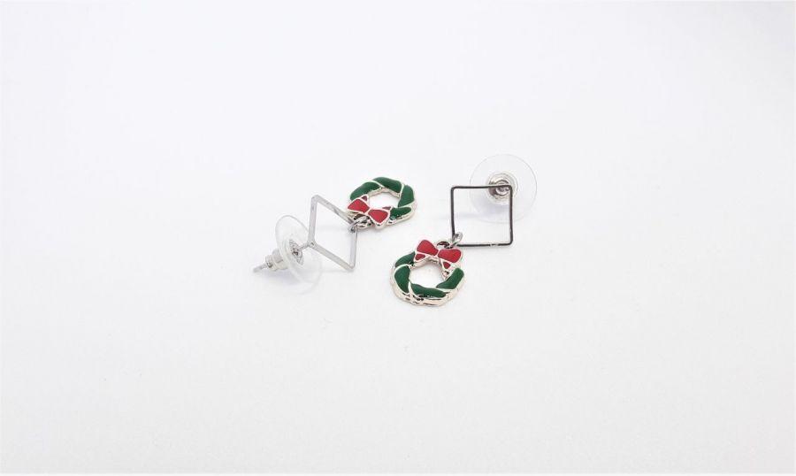 Kolczyki świąteczne - wieńce