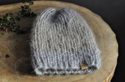ciepła czapka alpaka mohair w pasy