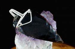 Srebrny wisior z obsydianem smocze szkło