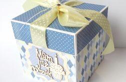 Pudełko, kartka na roczek dla chłopca 256