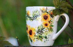 Kubek ręcznie malowany-słoneczniki-dla mamy