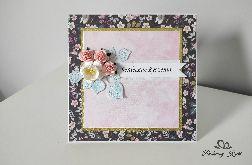 Kartka na Urodziny imieniny kwiaty