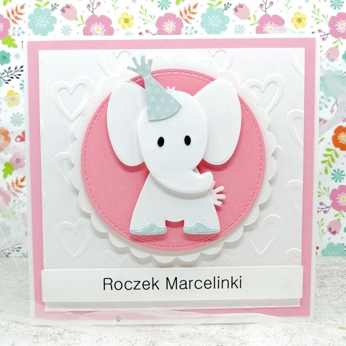 Kartka dla dziewczynki ze słonikiem UDP 014
