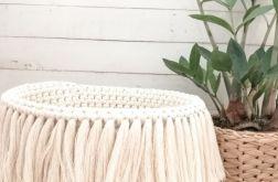 Koszyk,kosz BOHO,22x17cm,ze sznurka,natural.