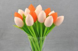 Tulipany szyte, pomarańczowo-morelowe