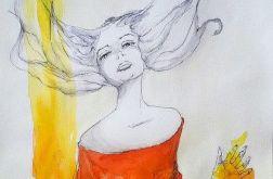 "Akwarela ""SZAMANKA"" artystki Adriany Laube"