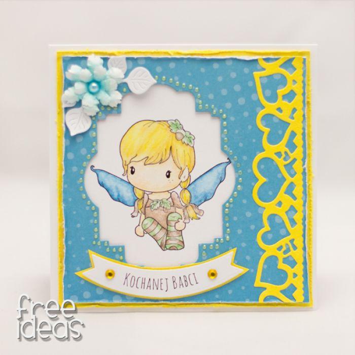 Kochanej Babci z aniołkiem KDB1805