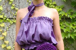 fioletowa letnia bluzka