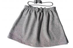 srebrna spódniczka wraz z opaską