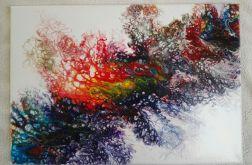 """""""Barwy życia"""" - obraz abstrakcja"""