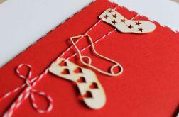 Kartka świąteczna Boże Narodzenie skarpety