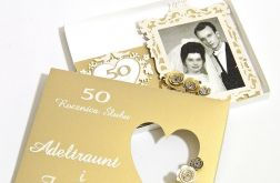 Kartka 50 rocznica ślubu zdjęcie w pudełku