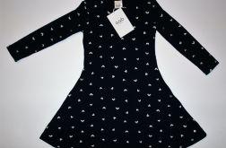 Sukienka granatowa w serduszka rozmiar 98