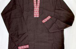 Koszula łemkowska - len brązowa męska