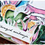 Różowe trampki - kartka urodzinowa