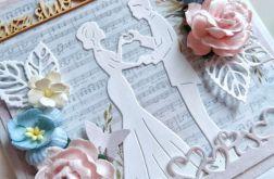 Wyjątkowa Kartka ślubna plus koperta 3D, ślub