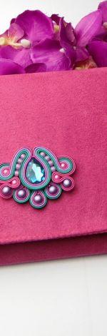 Biżuteria wizytowa sutasz kopertówka różowa