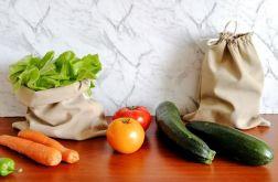 Worek na warzywa, 2 sztuki,JASNORÓŻOWY.