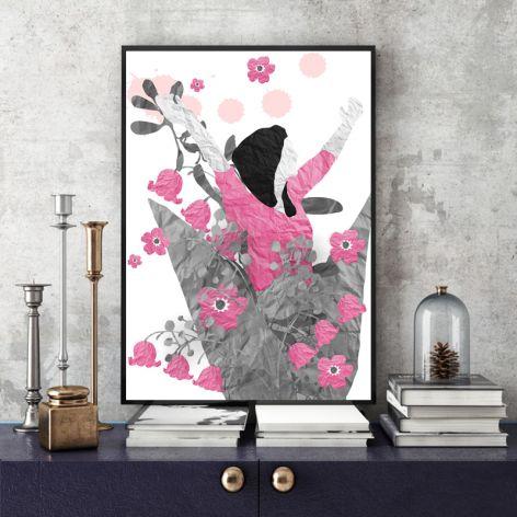 radość... art print a4