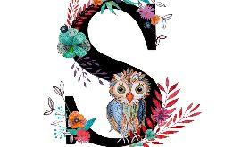 Alfabet S wydruk ilustracji