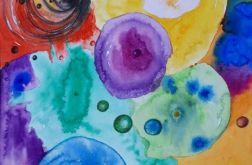 """""""Ogrom potencjałów"""" akwarela, abstrakcja"""
