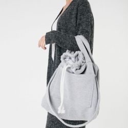 duża torebka na zakupy szara