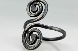 Zawijas - srebrny pierścionek 190710-05