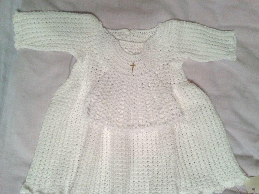 Biała szatka do chrztu - Aniołek