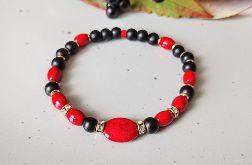 Czerwony marmur-bransoletka