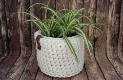 Koszyk ze sznurka bawełnianego kremowy,3sztuk