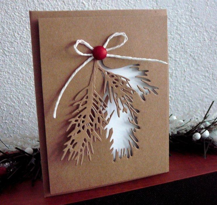 Kartka świąteczna w stylu eco