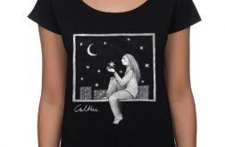 Okno - koszulka oversize - czarna