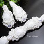 Komplet biżuterii ślubnej sutasz -