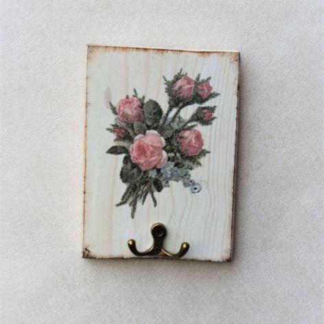 Wieszak na klucze, biżuterię Róża