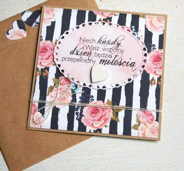 kartka ślubna :: róże