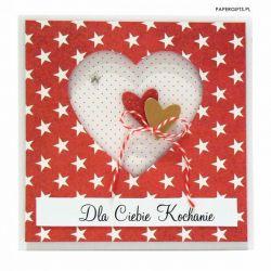 Kartka dla kochanej osoby - serca i gwiazdy