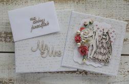Romantyczna kartka ślubna z pudełkiem 25
