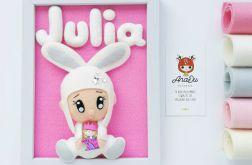 Personalizowany obrazek filcowy- Bobas-królik