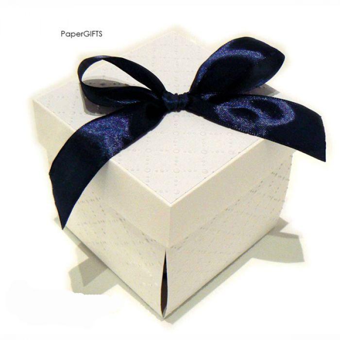 Exploding box ślubny biały ręcznie robiony